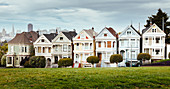 Painted Ladies, Victorian Row Houses, San Francisco, California, USA