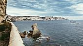 Cliffs below Bonifacio, Corsica, France