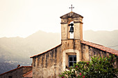 old church in San Antonino, Corsica, France