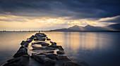 Calvi Bay at sunrise, Corsica, France