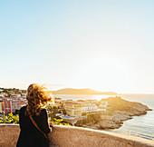 View from the Citadelle in Calvi to the La Revellata peninsula, Corsica, France