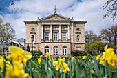 Historical building of the German Theater G? Ttigen for acting and dance in spring, G? Ttingen, Lower Saxony, Germany, Europe