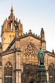 Monument to Walter Scott in front of St. Giles Cathedral, Royal Mile, UNESCO World Heritage Site, Edinburgh, Edinburgh, Scotland, Great Britain, United Kingdom