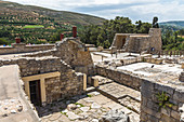 Overview of the grounds, Knossos Palace, Crete, Greece
