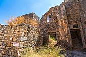 On the grounds of Spinalonga, island of lepers, Plaka, northeastern Crete, Greece