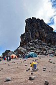 Kilimanjaro, Lavatowers, 4630 meters high, third stage, lunch break, acclimatization day,