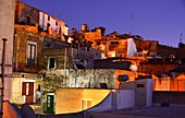 Evening in Lipari under the castle, Aeolian Islands, southern Italy