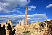 Roman excavations, La Tonnara Museum in the Natural Park di Vendicari on the Gulf of Noto, southern Sicily, Italy