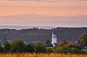 Sunrise in Grafenhausen with S? Ntis, summer, Southern Black Forest, Black Forest, Baden-W? Rttemberg, Germany, Europe
