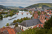View from the castle on Miltenberg, Main, Lower Franconia, Bavaria, Germany, Europe