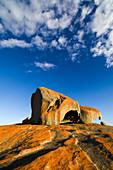 Bemerkenswerte Felsen am frühen Morgen, Flinders-Chase-Nationalpark, Känguru-Insel, Südaustralien, Australien LA009294
