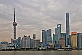 Shanghai Cityscape across the Bund\nChina\nLA008657