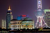 Shanghai Cityscape at night\nChina\nLA008697