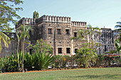Old Fort AKA Arab Fort or Ngome Kongwe, Stone Town, Zanzibar, Unguja Island, Tanzania.\n