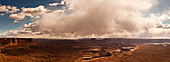 Canyonlands National Park, USA - April 30, 2010. Cloudscape above the wilderness of the Canyonlands National Park, Utah.