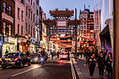 The famous China Town in London, United Kingdom. It is located in the City of Westminster and the district has more than 80 authentic Chinese restaurants.