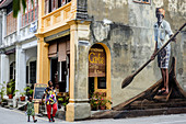 Penang, Malaysia - Junuary 17, 2015: Full Imaga Plaza store in George Town.