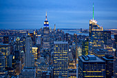 View of Manhattan and the Empire State Building, New York City, USA