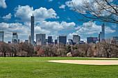 Blick auf Manhattan vom Central Park, New York City, USA