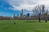 Central Park with Manhattan in the background, New York City, USA