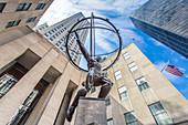 The Atlas statue in front of Rockefeller Center, New York City, USA