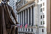 Wall Street or New York Stock Exchange, New York City, USA