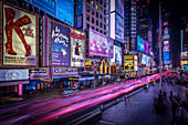 At night in Time Square, New York City, USA