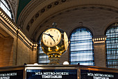Clock in Grand Central Station, New York City, United States