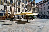 Der Glockenspiel im historischen Stadtzentrum, Graz, Österreich