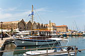 Venetian harbor in Chania, northwest Crete, Greece
