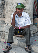 Thoughtful man, Havana, Cuba