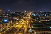 Beleuchtetes Havanna, Kuba