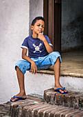 Cuban boy in Camagüey, Cuba