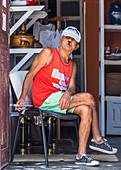 Cuban smokes his cigar in Trinidad, Cuba