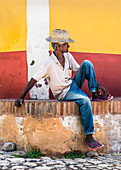 Man takes little break in Trinidad, Cuba