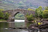 Brickeen Bridge, Lower Lake, Killarney National Park, County Kerry, Ireland, Europe