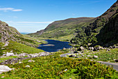 Augher See an der Gap of Dunloe Road, Grafschaft Kerry, Irland, Europa