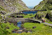 Stonebridge and Augher Lake along Gap of Dunloe Road, County Kerry, Ireland, Europe