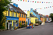 Colorful houses in Eyeries, County Cork, Ireland