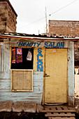 Beauty salon in the slum, Eastleigh, Nairobi, Kenya