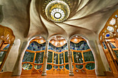 Inside the Casa Batllo by Antoni Gaudi, Barcelona, Spain