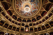 Inside the State Opera in Budapest, Hungary