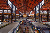 The Great Market Hall in Budapest, Hungary