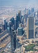 View from Burj Khalifa of Dubai, UAE