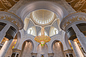 Inside the Sheikh Zayed Grand Mosque in Abu Dhabi, UAE