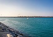 Boat goes off the coast of Abu Dhabi, UAE