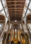 Inside the Basilica Santa Croce in Florence, Italy