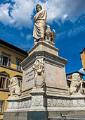 Statue of the famous writer Dante Aligheri in Florence, Italy
