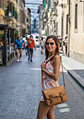 Tourist in the streets of Florence, Italy
