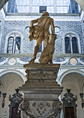 Statue in the courtyard of the Riccardi Palace in Florence, Italy